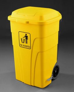 Contenedor-reciclaje-120L-con-pedal-color-amarillo