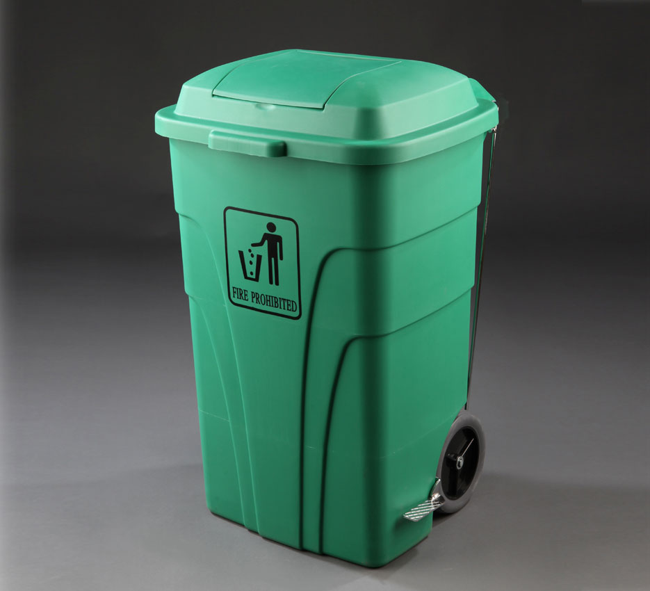 Contenedor reciclaje L con pedal color verde