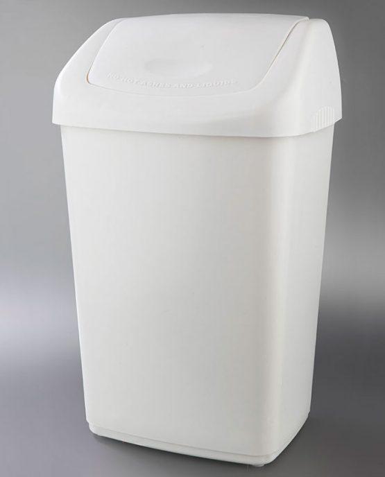 papelera blanca tapa basculante litros