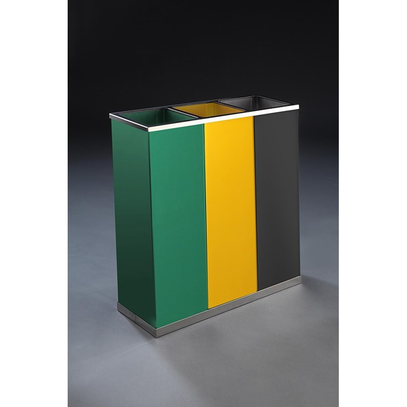 papelera de reciclaje  cubos pintadal