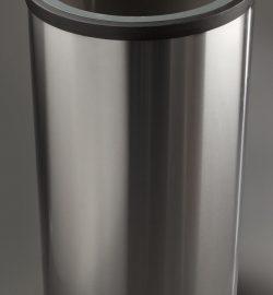 papelera de reciclaje inoxidable triple diseño