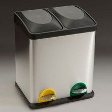 papelera pedal doble inox
