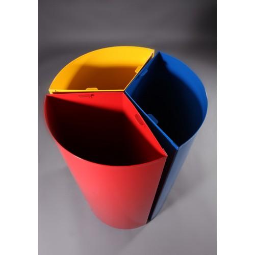 papelera reciclaje circular cubetas