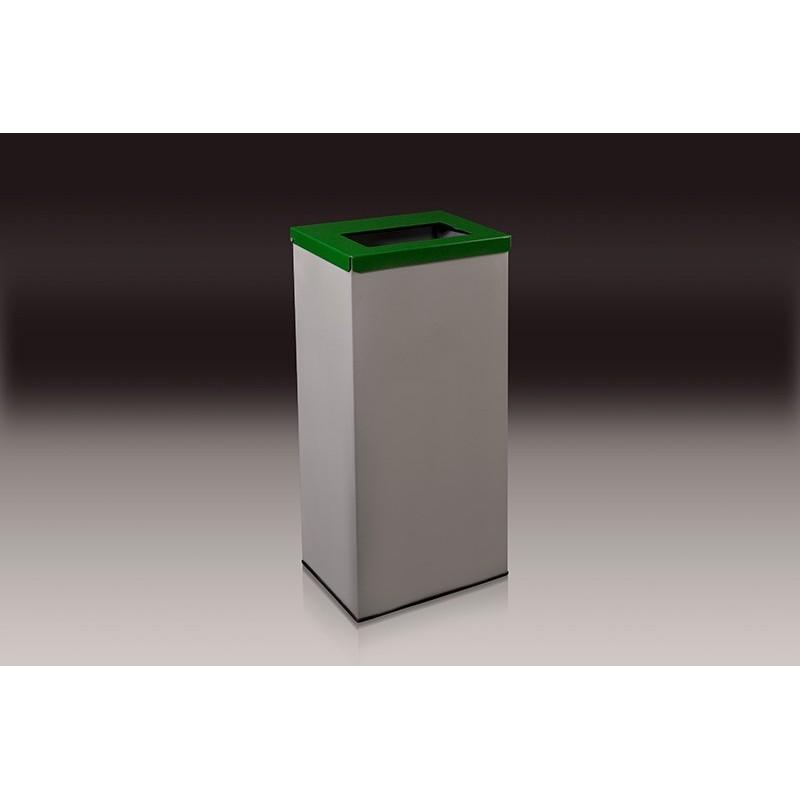 papelera reciclaje con tapa y aro sujeta bolsas l verde