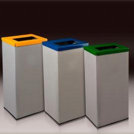 papelera reciclaje rectangular residuos