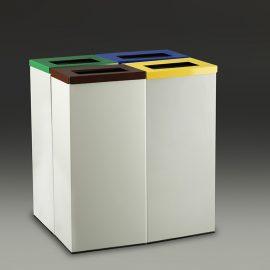 papelera reciclaje rectangular lote