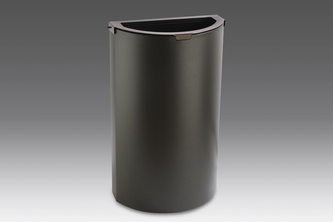 papelera reciclaje semicircular cabezal color