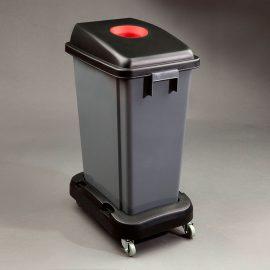 papelera reciclaje slim  litros con carro