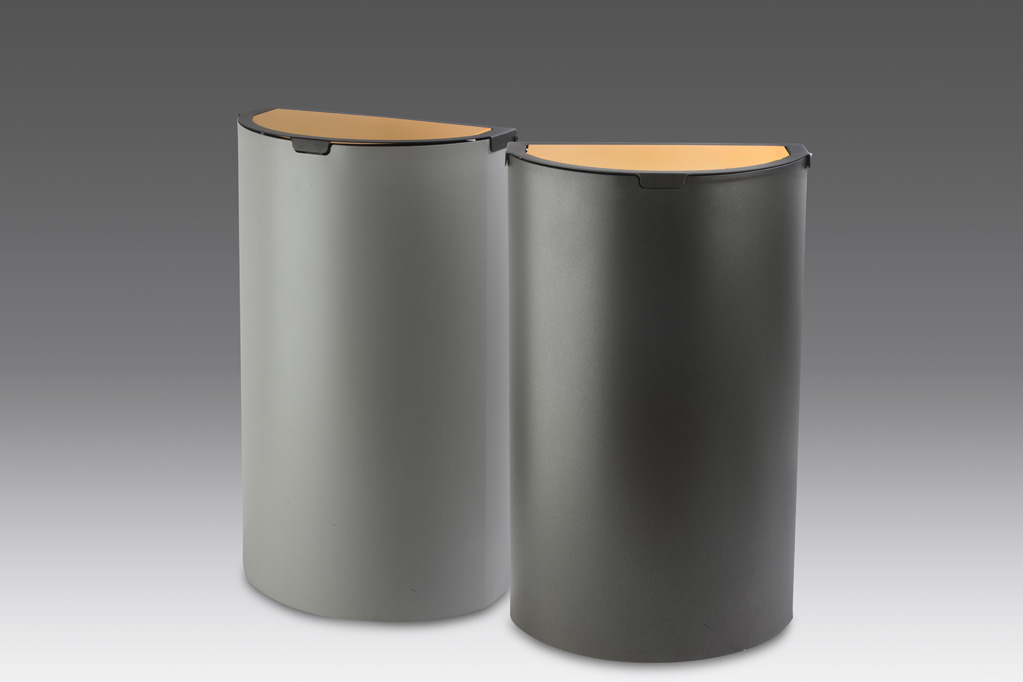 papelera reciclaje tapa basculante metalicas
