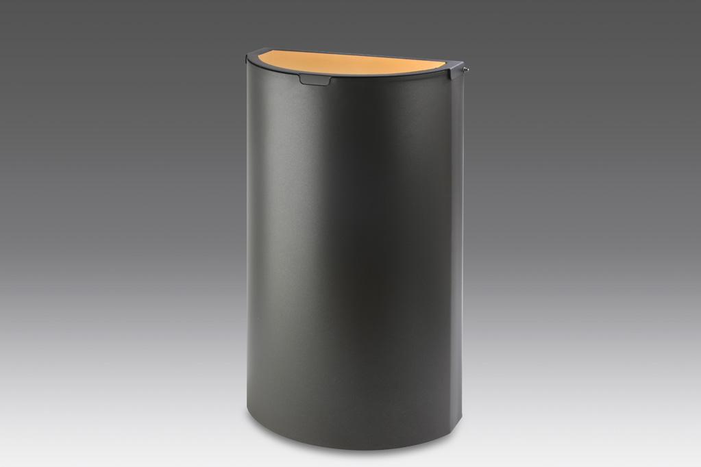 papelera reciclaje tapa basculante oxidon