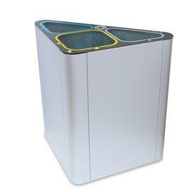 papelera reciclaje  residuos gris