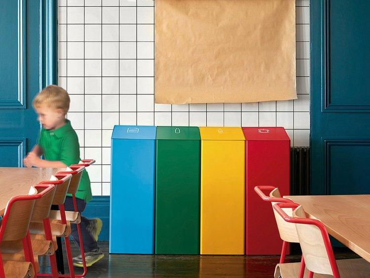 papelera reciclaje comedor colegio