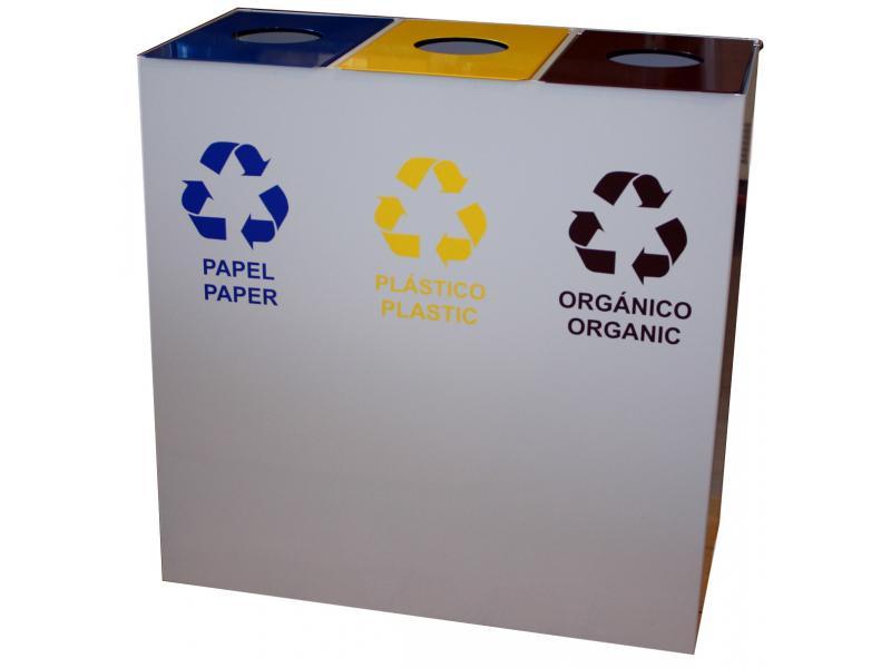 papelera reciclaje triple