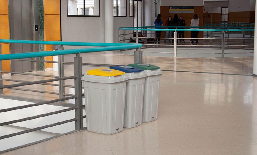 papeleras reciclaje escolar eco
