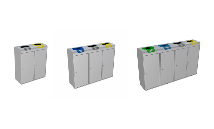 papelera reciclaje con puerta    residuos es