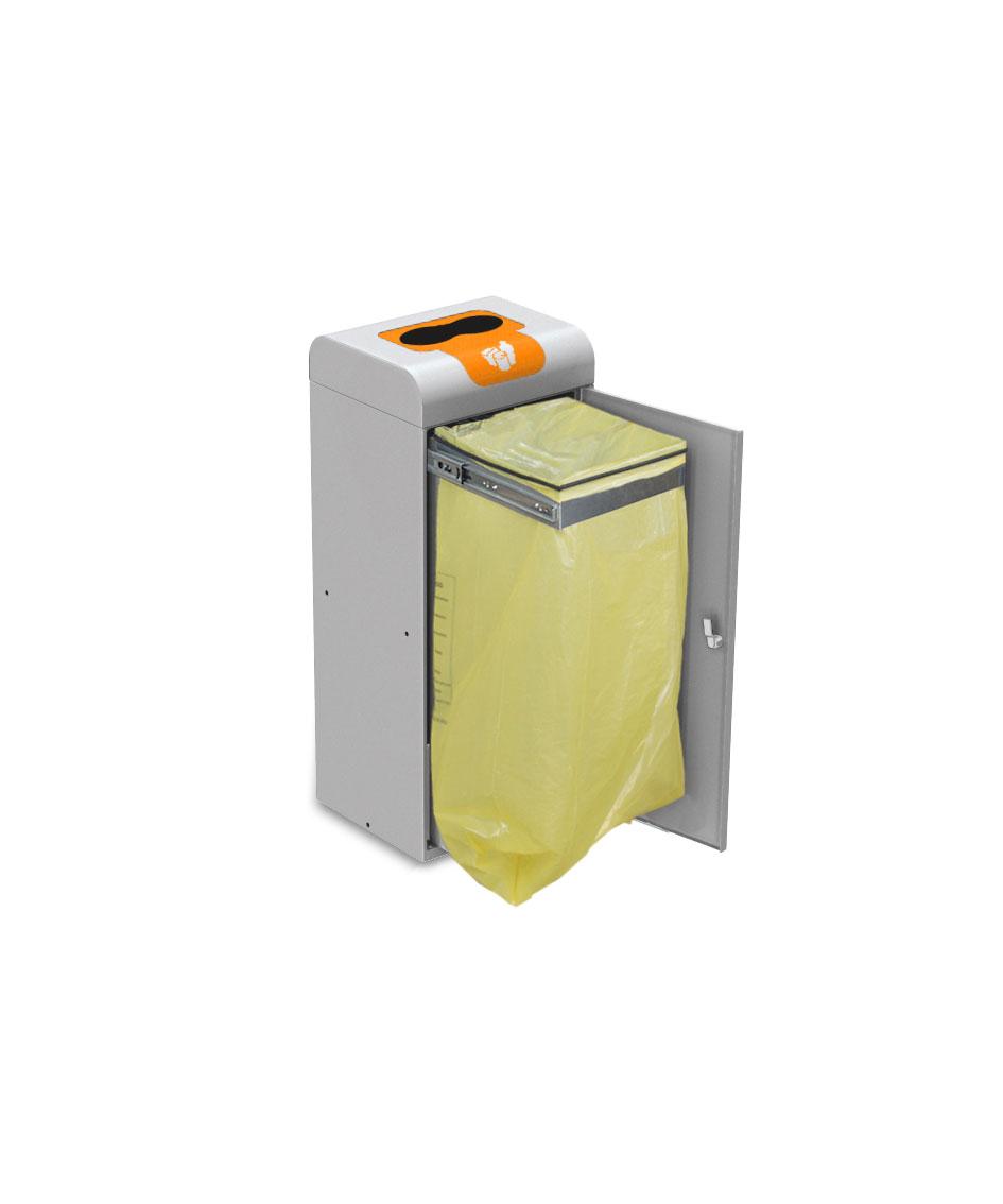 papelera reciclaje con puerta y aro