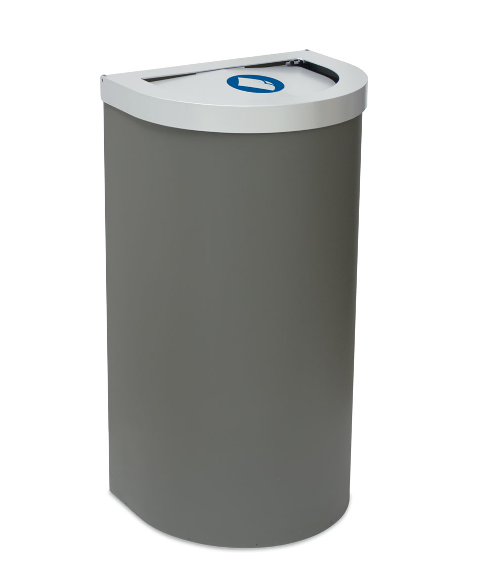 papelera reciclaje media luna tapa basculante litros