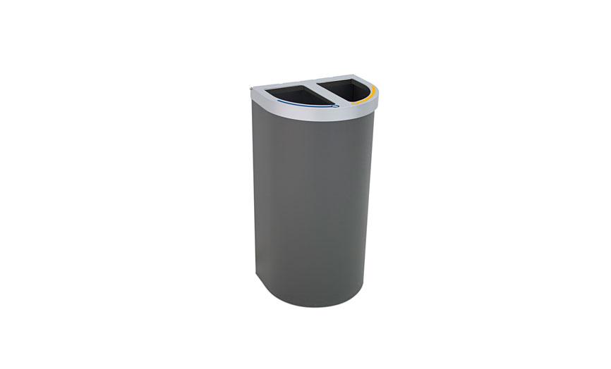 papelera reciclaje multiresiduo doble