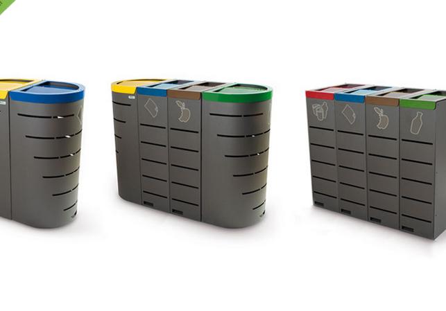 papelera reciclaje perforada