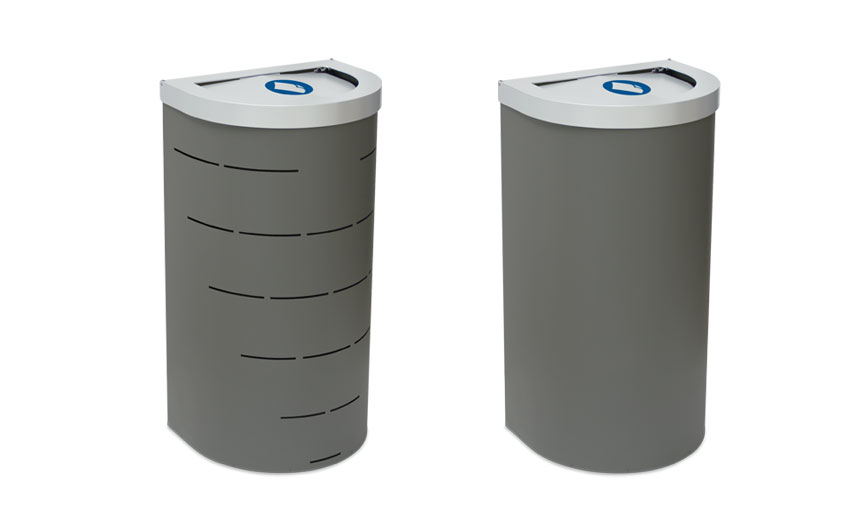 papelera reciclaje perforada lisa
