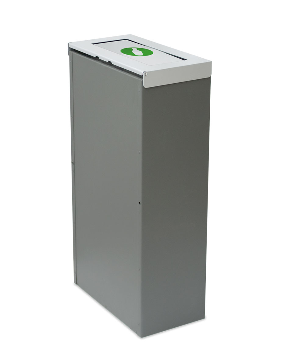 papelera reciclaje rectangular tapa basculante litros