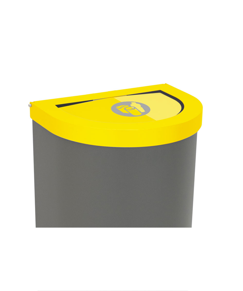 papelera reciclaje tapa basculante