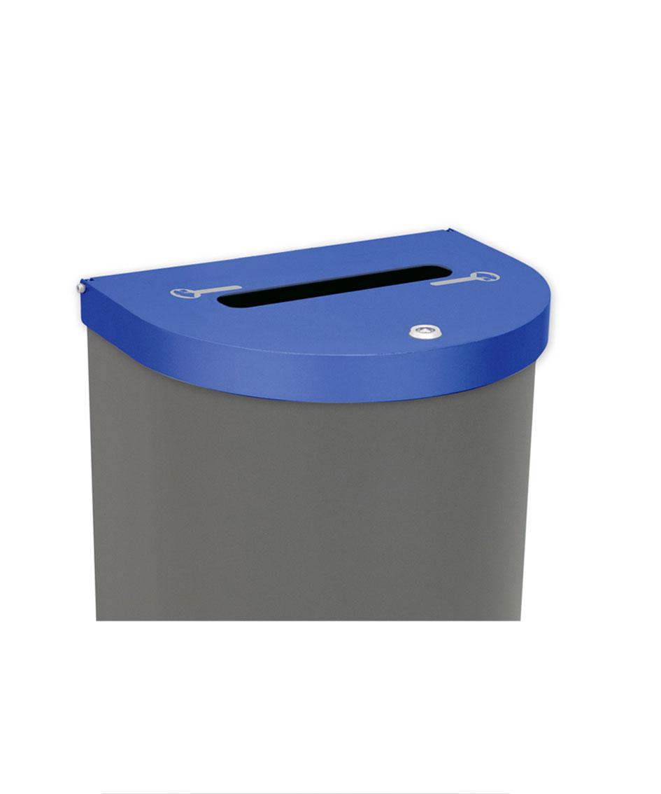 papelera reciclaje tapa documentos confidenciales