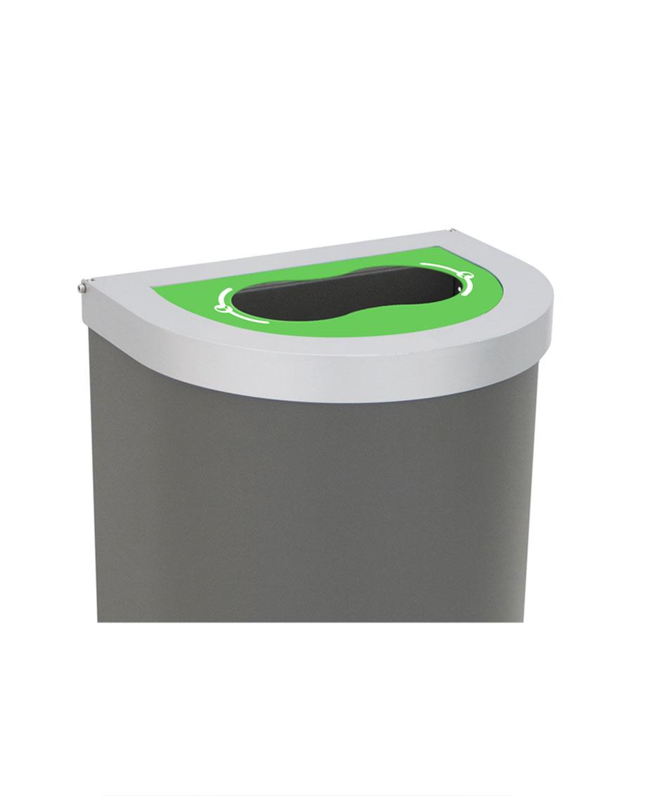 papelera reciclaje tapa selectiva