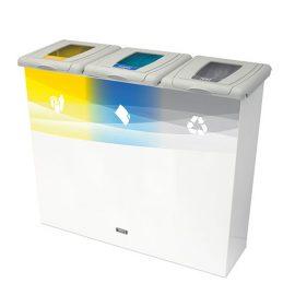 papelera reciclaje triple especial edición