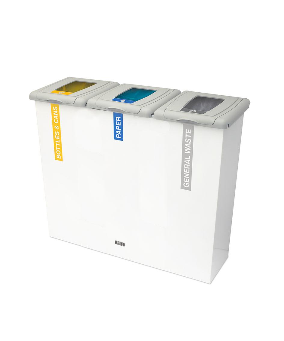 papelera reciclaje triple residuo  litros