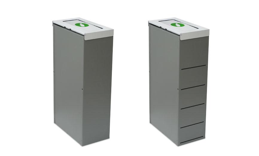 papelera reciclaje versiones perforada lisa