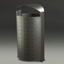 papelera urbana  litros con puerta