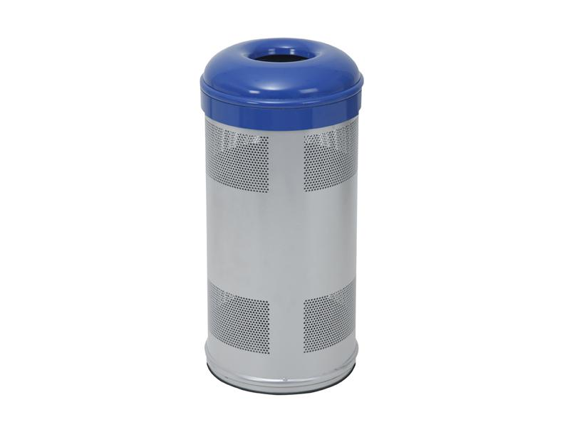 papelera reciclaje azul circular  litros
