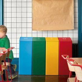 ambiente papelera reciclaje diseño