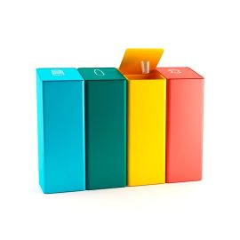 conjunto  papeleras reciclaje diseño