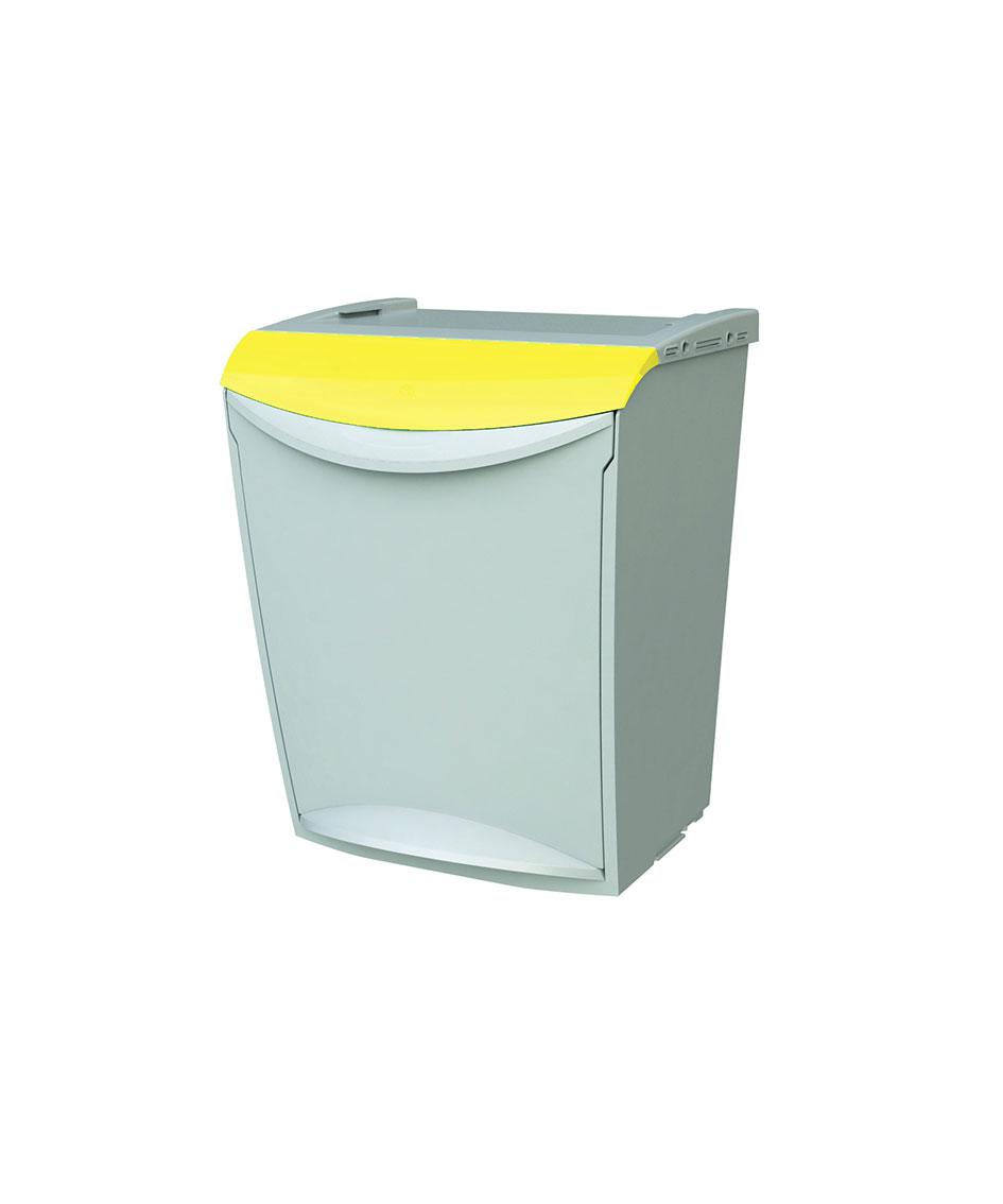 contenedor apilable amarillo