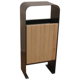 papelera metal madera