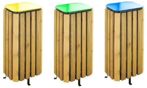 Papelera madera reciclaje - Reciclaje de la madera ...