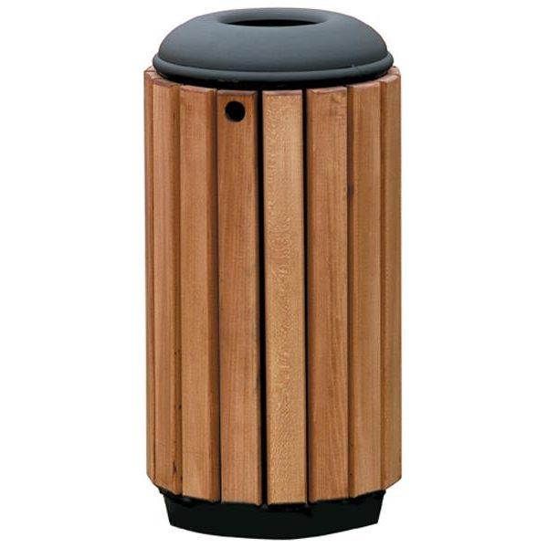 Papelera circular reciclaje madera papeleras de reciclaje - Reciclaje de la madera ...