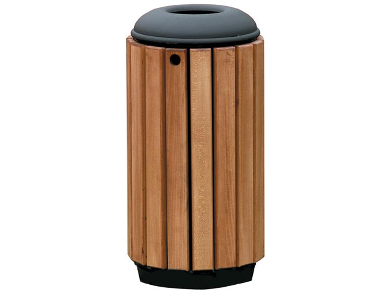 papelera urbana madera