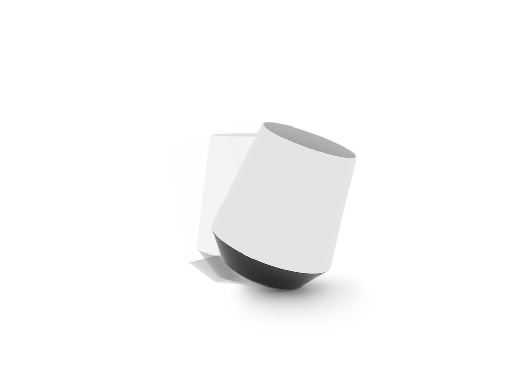 papelera diseño blanca
