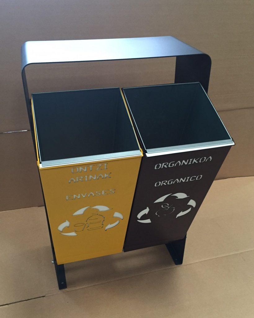 papelera reciclaje cubetas