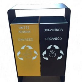 papelera reciclaje exterior