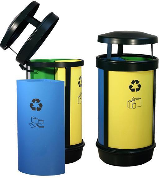 papelera reciclaje triple  adhesivos