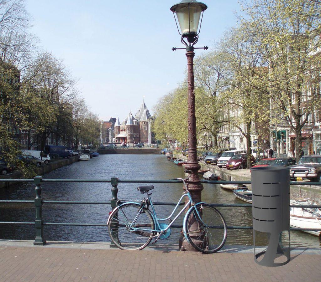 ambiente papelera urbana diseño circular