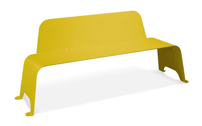 banco acero amarillo