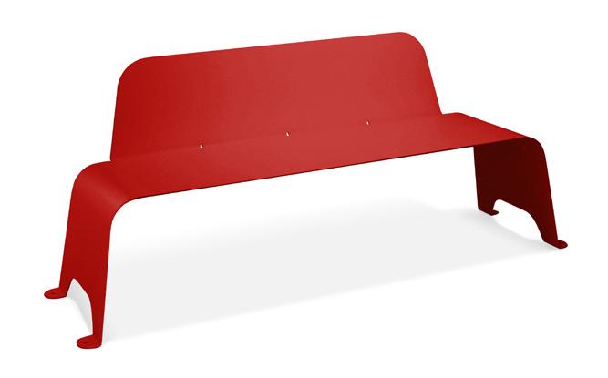 banco acero rojo