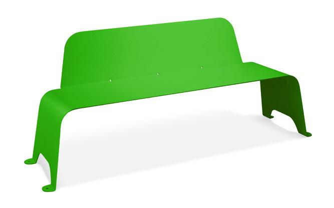 banco acero verde