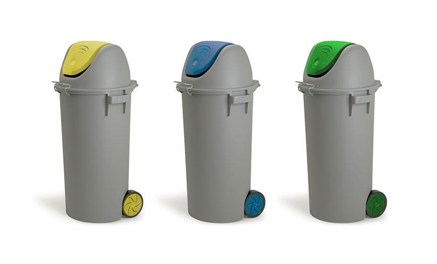 colores papelera reciclaje