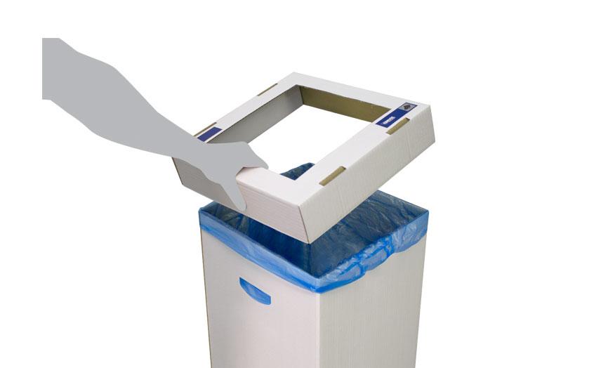 detalle tapa papelera cartón
